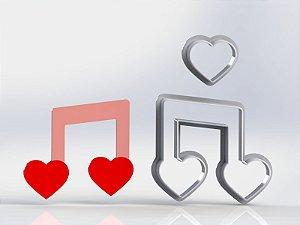Cortador Dia dos Namorados - Nota de amor