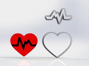 Cortador Enfermagem - Coração Batendo Batimento Mãe