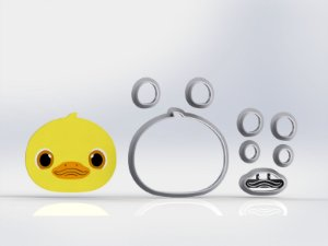 Cortador Cocomelon - Patinho (Pato)  Modular