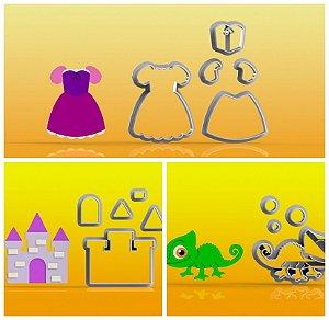 Cortador Kit Rapunzel 3 Modelos Modulares