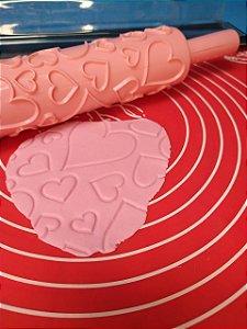 Rolo de Textura Coração