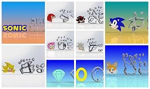 Cortador Kit Sonic e Amigos Super 10 Modelos