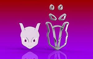 Cortador Pokemon  Mewtow Rosto Modular