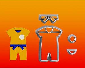 Cortador Dragon Ball -  Roupa Goku Modular