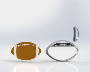Cortador Bola Futebol Americano (Rugby)