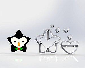 Cortador Natal - Estrela Pinguim Modular