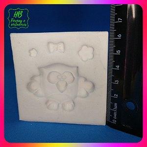 Molde silicone Coruja Fofa M ( Corujinha) dia dos Professores