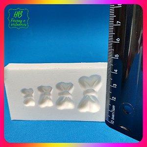 Molde silicone  4 Laços Lacinhos