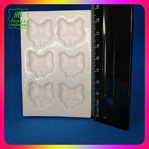 Molde silicone 6 Laço De Fita