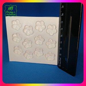 Molde silicone Flor P Com 12 Cavidades (Florzinhas)