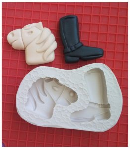 Molde silicone Bota e Cavalo - Gaúcho