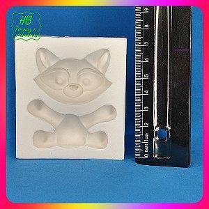 Molde silicone Bosque Baby Guaxinim 3D