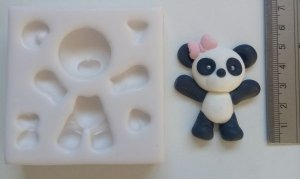 Molde silicone Urso Ursinho Fofinho Urso Panda
