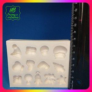 Molde silicone Kit Natal P ( 13 Modelinhos) Docinhos