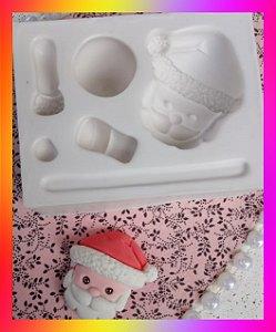 Molde silicone Papai Noel 6,5 cm 3d
