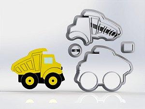 Cortador Obra Construção Caminhão Caçamba Modular