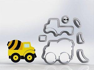 Cortador Obra Construção Caminhão Betoneira Modular