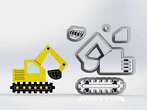 Cortador Obra Construção Pá Carregadeira Modular