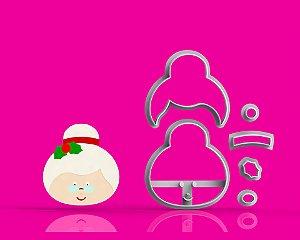 Cortador Natal Mamãe Noel - Modular ( vovó)