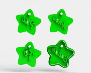 Cortadores Kit Estrelas do Ano Novo (Marcadores e cortador)