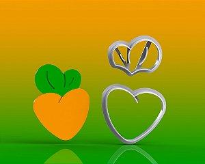 Cortador Páscoa - Cenoura Coração Modular