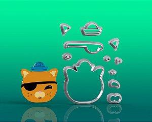 Cortador Octonautas - Tenente Kwazii (Gato) Modular