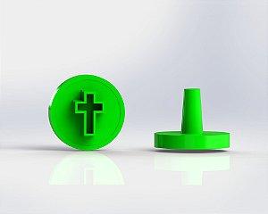 Marcador Docinhos (Carimbo) - Cruz (Batizado, comunhão)