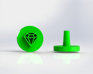 Marcador Docinhos (Carimbo) - Diamante (Sonic, Free Fire)