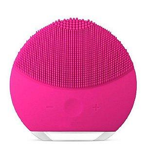 Esponja Elétrica de Limpeza Facial Massageadora de Silicone Pink