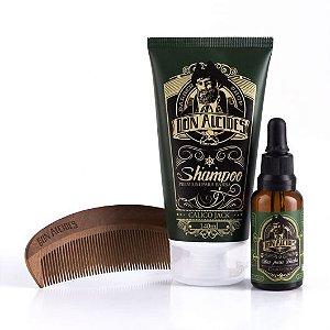 Kit Don Alcides Shampoo para Barba Calico Jack  + Óleo para Barba Calico Jack + Pente para Barba El Capitan