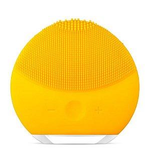 Esponja Elétrica de Limpeza Facial Massageadora de Silicone Amarela