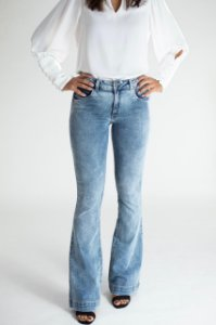 Calça Jeans Microflare - Boston