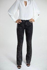 Calça Jeans Preta Boot Cut - Aracaju