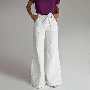 Calça Wide Pantalona Off White - Melbourne