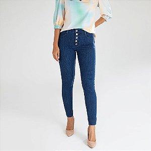 Calça Jeans Skinny Botões - Pretória