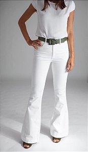 Calça Jeans Flare Off White  - Saara