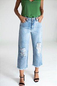 Calça Jeans Mom Reta - Nara