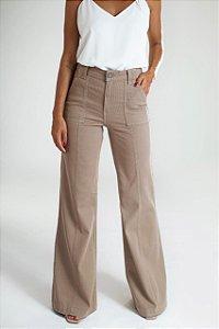 Calça Pantalona Sarja Cotelê - Sakai
