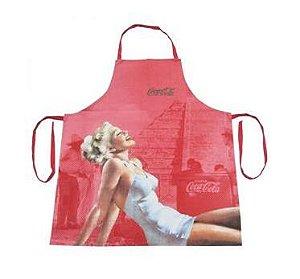 Avental Em Algodão Coca-cola Pin Up Blondy Lady