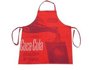Avental de Cozinha Coca Cola Servindo Vermelho Vintage