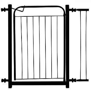 Portãozinho Pet com Extensor - 70 cm x 86 cm - Preto