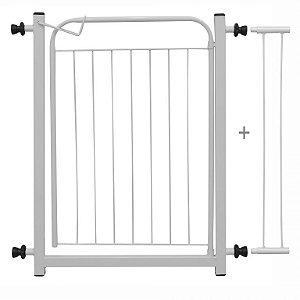 Portãozinho Pet com Extensor - 70 cm x 86 cm - Branco