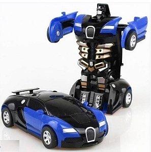 Brinquedo mini carro transformers novo