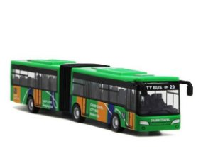 Brinquedo mini ônibus articulado novo
