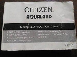 Manual original Relógio Citizen C500 e Jp1060