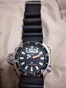 Relógio Citizen Aqualand Série Prata Jp2000-08e Tz10137t (USADO pouquíssimas VEZES igual a novo)
