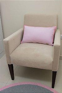Almofada de Encosto para Poltrona de Amamentação - Rosa Liso