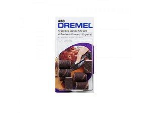 "DREMEL TUBOS LIXA 438 GR120 1/4"" (6 UNIDADES)"