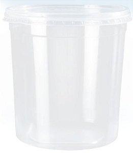 Kit Pote Redondo 1500ml - Caixa com 100 unidades
