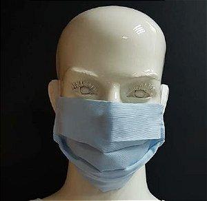 Mascara de Tecido Dupla Branca pct c/5